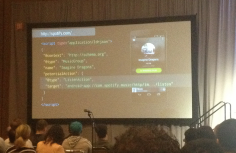 Spotify, with real bits of JSON-LD inside