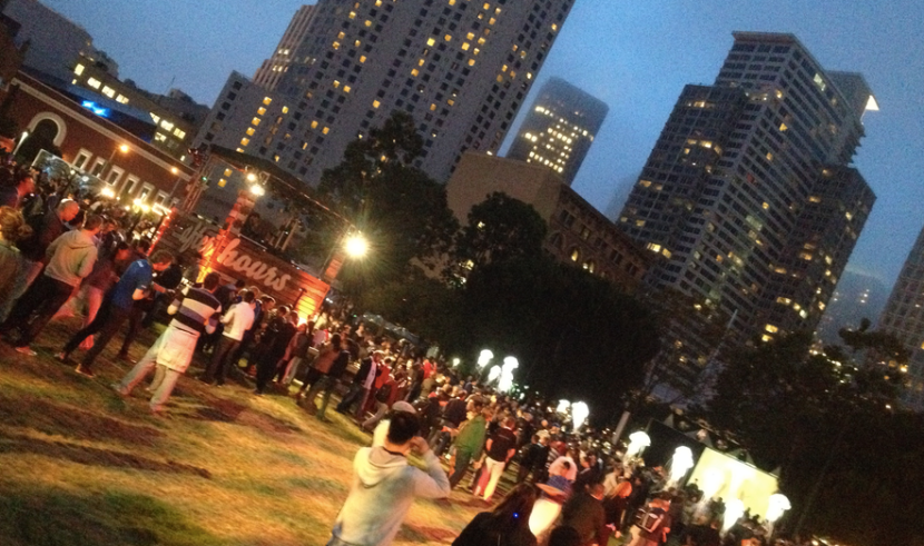 Google I/O after hours party in Yerba Buena Gardens