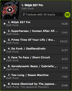 Daft Punk less popular tracks
