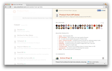 More Products on Product Hunt!
